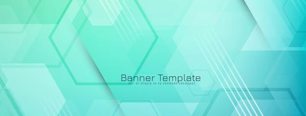 Moderne stijlvolle zeshoek vormen geometrische banner vector