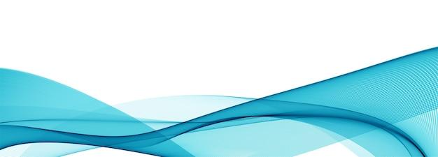 Moderne stromende blauwe golf banner achtergrond