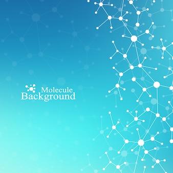 Moderne structuur molecuul dna. atoom. molecuul- en communicatieachtergrond voor geneeskunde, wetenschap, technologie, chemie. medisch wetenschappelijke achtergrond.
