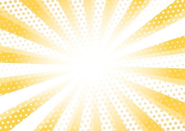 Moderne sunburst halftoonpatroon achtergrond