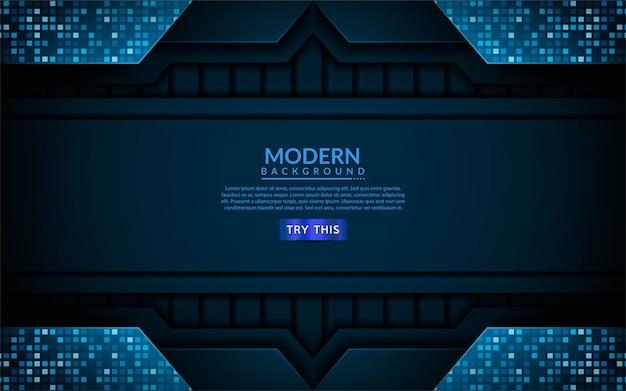 Moderne tech blauwe achtergrond