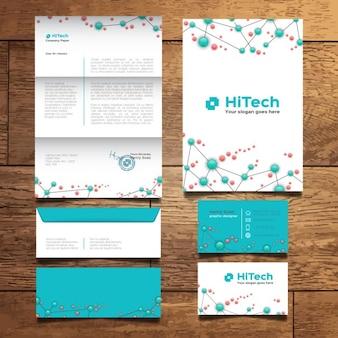 Moderne tech briefpapier