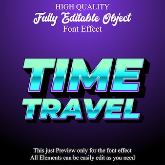 Moderne technologie 3d tekststijl bewerkbaar lettertype-effect