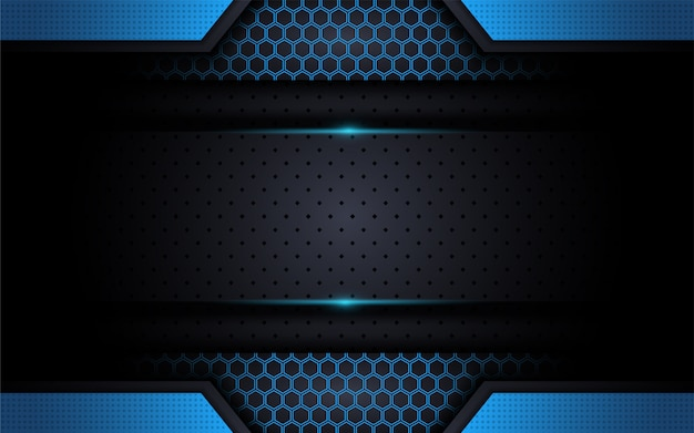 Moderne technologie blauwe achtergrond met abstracte stijl
