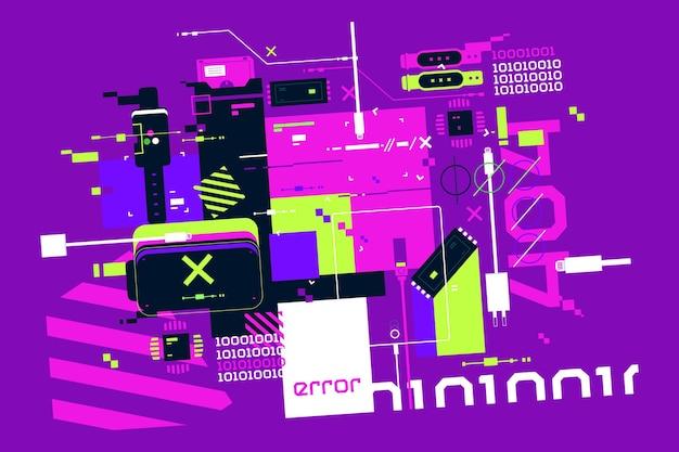 Moderne technologie van elektronische polshorloge vectorillustratie. ontwikkelingsverbetering van het platte stijlconcept van slimme horloges en apparaten