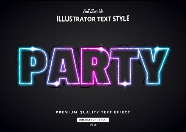 Moderne teksteffect illustratie