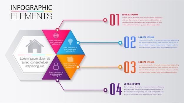 Moderne tekstvak sjabloon, banner infographic