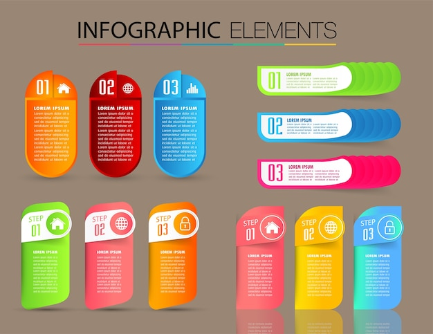 Moderne tekstvak sjabloon, banner infographics