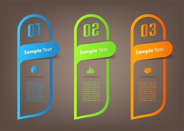Moderne tekstvak sjabloon banner infographics