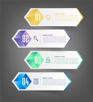 Moderne tekstvak sjabloon infographics banner