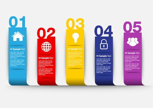Moderne tekstvak sjabloon voor website, banner