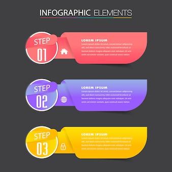 Moderne tekstvaksjabloon, infographics