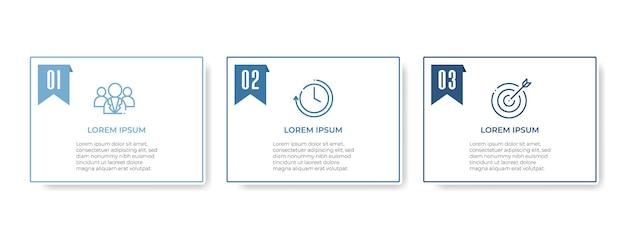 Moderne tijdlijn infographic 3 opties