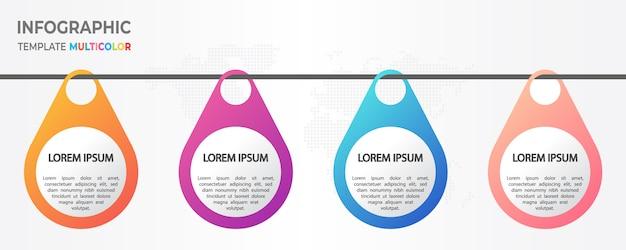 Moderne tijdlijn infographic 4 opties