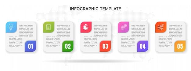 Moderne tijdlijn infographic opties.