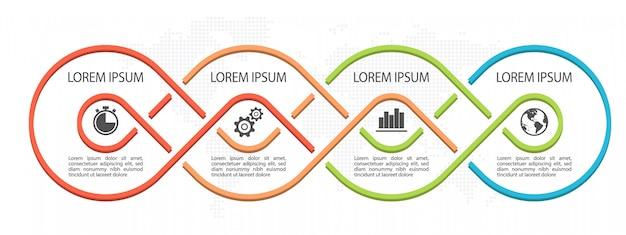 Moderne tijdlijn infographic