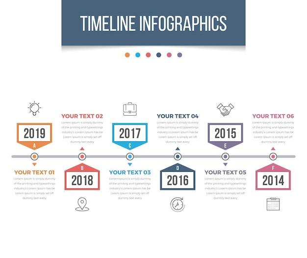 Moderne tijdlijn infographics