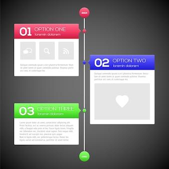 Moderne tijdlijn ontwerpsjabloon