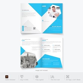 Moderne tweevoudige brochure