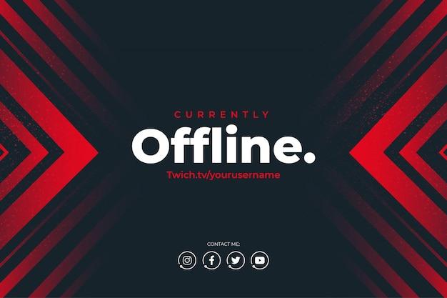 Moderne twitch momenteel offline achtergrond