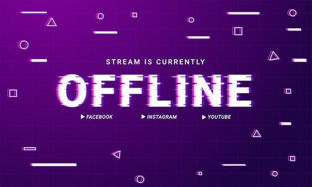 Moderne twitch offline achtergrond ontwerpsjabloon