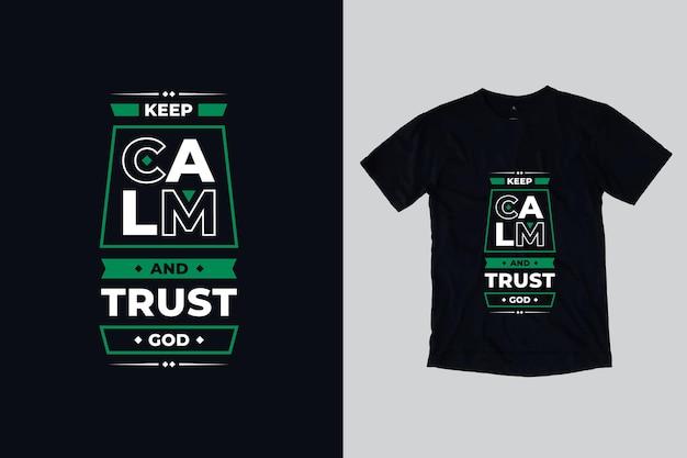 Moderne typografie inspirerende citaten t-shirtontwerp