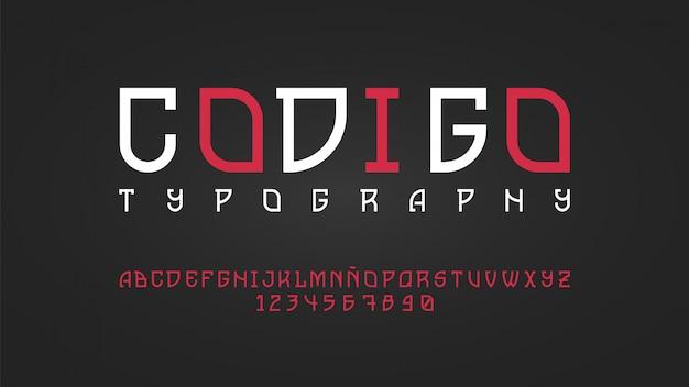 Moderne typografie met mooi lijneneffect