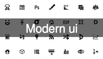 Moderne ui iconen voor web design