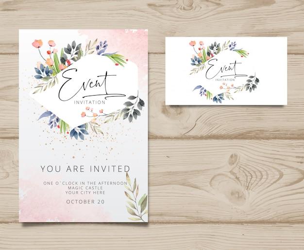Moderne uitnodigingskaart