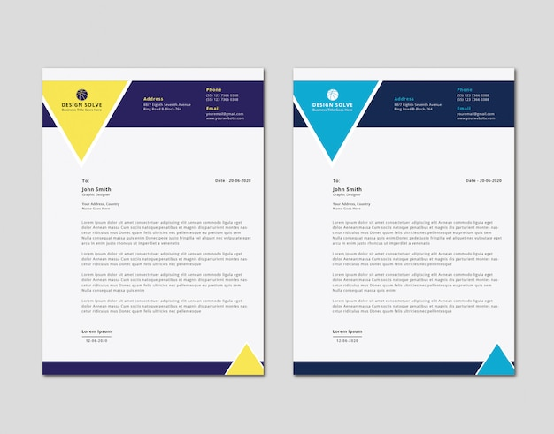 Moderne unieke zakelijke briefhoofd ontwerp