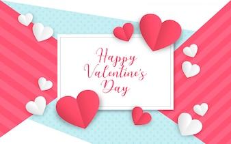 Moderne Valentijnsdag Achtergrond