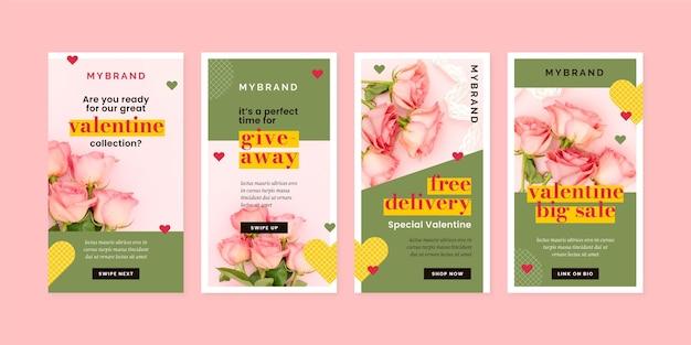 Moderne valentijnsdag verkoop verhaalcollectie