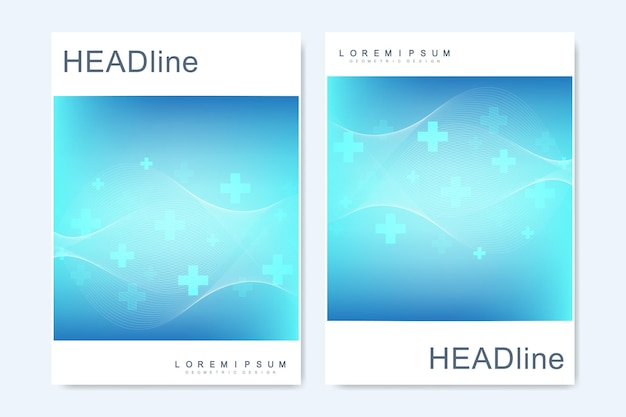 Moderne vector sjablonen voor brochure, omslag, banner, flyer, jaarverslag, folder