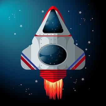 Moderne vectorillustratie van ruimteschip
