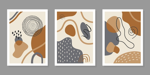 Moderne vectorreeks abstracte achtergronden met kleurrijke geometrische vormenvlekken en lijn