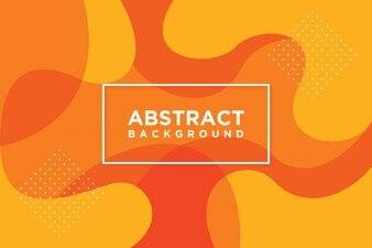 Moderne vectorsjablonen. Abstracte 3D achtergrond met sinaasappel.