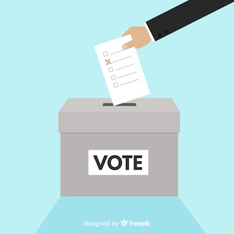 Moderne verkiezingsdoos met plat ontwerp