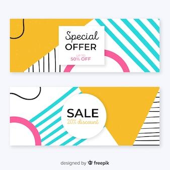 Moderne verkoop banner sjabloon ontwerpset