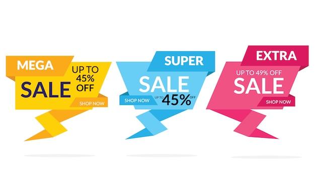 Moderne verkoop korting banner sjabloon promotie