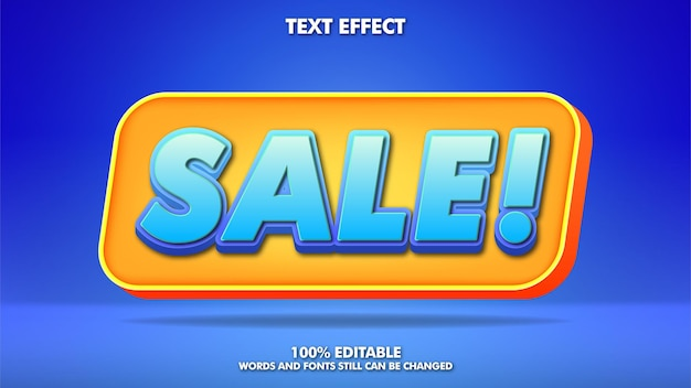 Moderne verkoopbanner met trendy bewerkbaar teksteffect