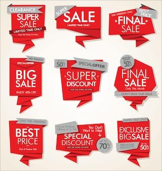 Moderne verkoopbanners en etiketten vectorinzameling