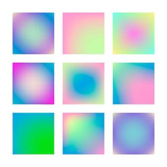 Moderne verloop ingesteld abstracte achtergrond