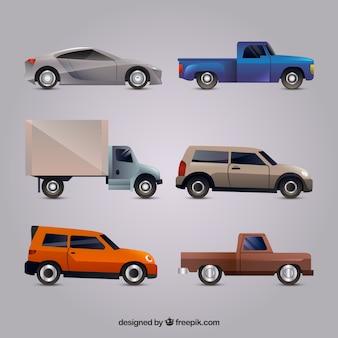 Moderne verscheidenheid aan relistische auto's