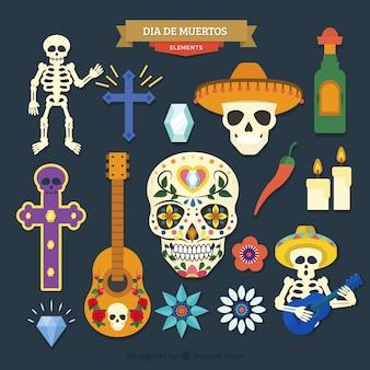 Moderne verscheidenheid van mexicaanse elementen