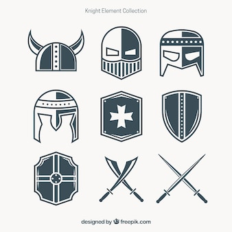 Moderne verscheidenheid van ridder aanvullingen
