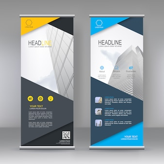 Moderne verticale roll-up banner
