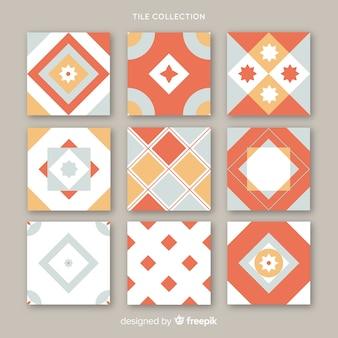 Moderne verzameling rode tegels