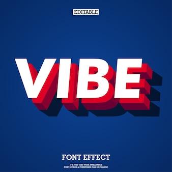 Moderne vibe 3D-lettertype effect met schaduw