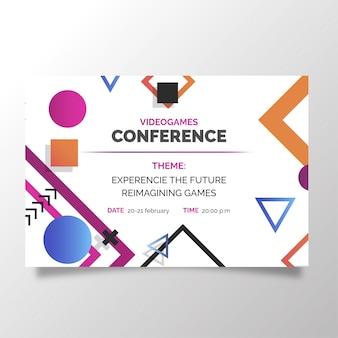 Moderne videogrammen conferentiesjabloon