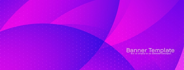 Moderne violette de stijl decoratieve banner van de kleurengolf